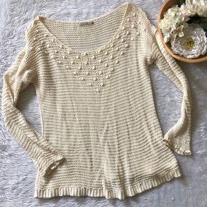 Rubbish Cream Knit Sweater